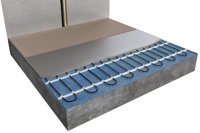 ratiodämm Elektro-Flächenheizung Verarbeitung: Verlegung mit Gussmörtel 3