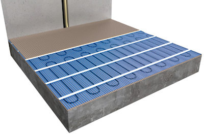 ratiodämm Elektro-Flächenheizung Verarbeitung: Verlegung mit Fliesenkleber (Option 1) 3