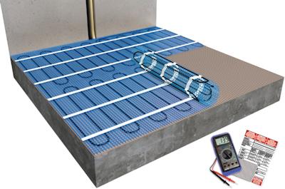ratiodämm Elektro-Flächenheizung Verarbeitung: Verlegung mit Fliesenkleber (Option 1) 2