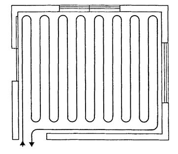 ratiodämm Fußbodenheizung Trockenbau Verlegung mäanderförmig