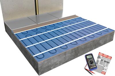 ratiodämm Elektro-Flächenheizung Verarbeitung: Verlegung mit Fliesenkleber (Option 1) 4