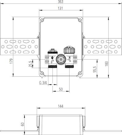 HEIMEIER Multibox C/E Abmessungen