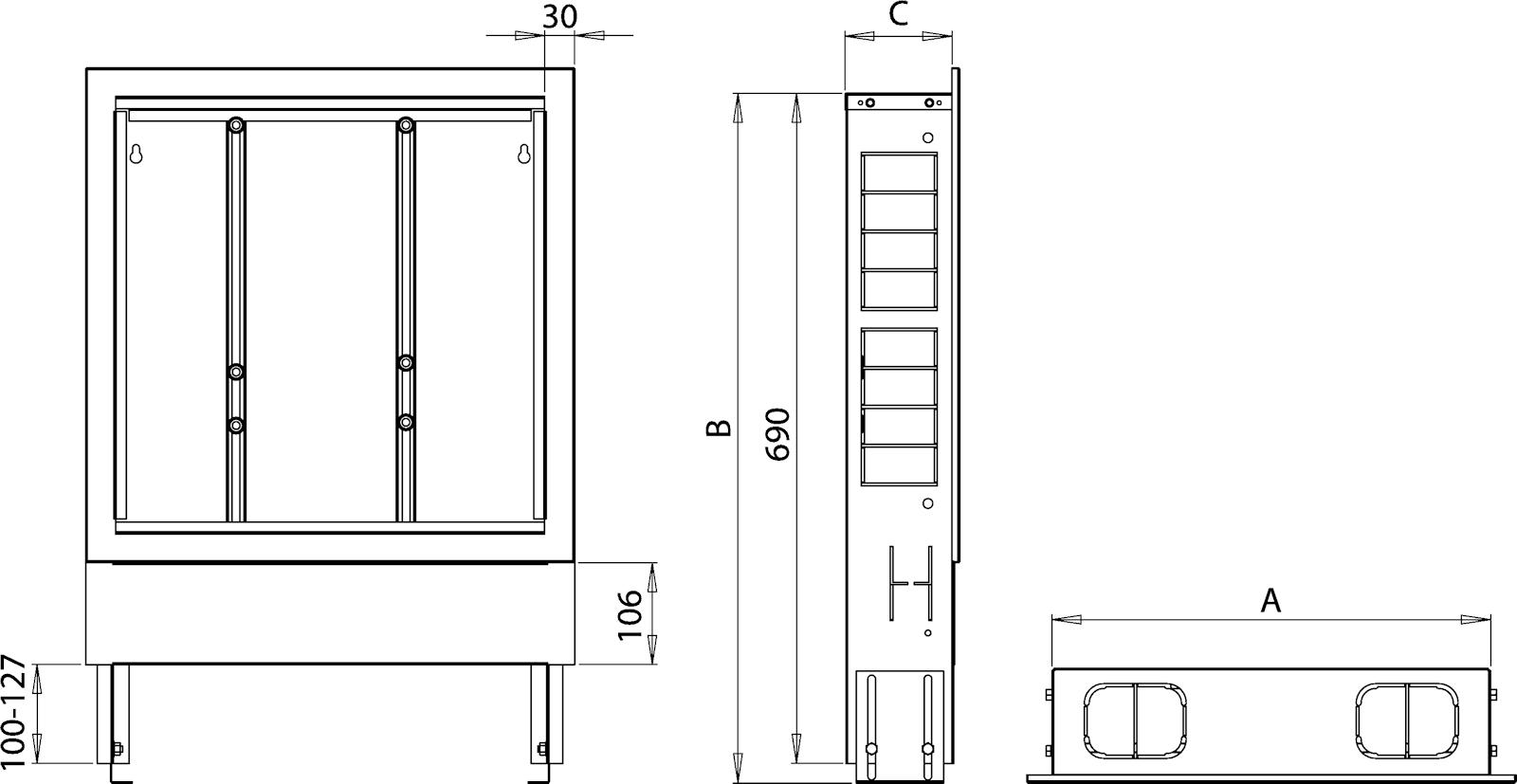 verteilerschrank aufputz unterputz f r verteiler fu bodenheizung wei ebay. Black Bedroom Furniture Sets. Home Design Ideas