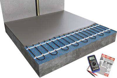 ratiodämm Elektro-Flächenheizung Verarbeitung: Verlegung mit Gussmörtel 2