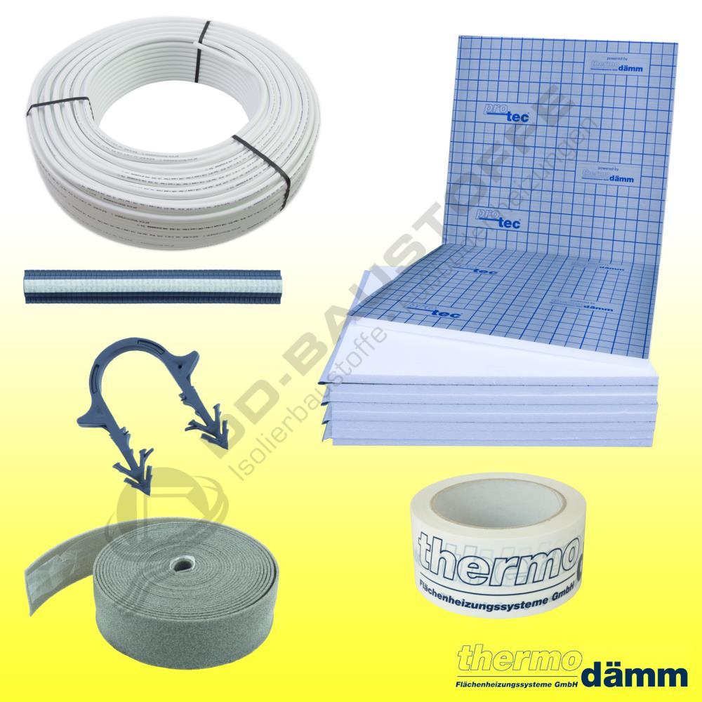 protec tackersystem fu bodenheizung mv rohr komplettpaket set tackerplatte set angebote. Black Bedroom Furniture Sets. Home Design Ideas