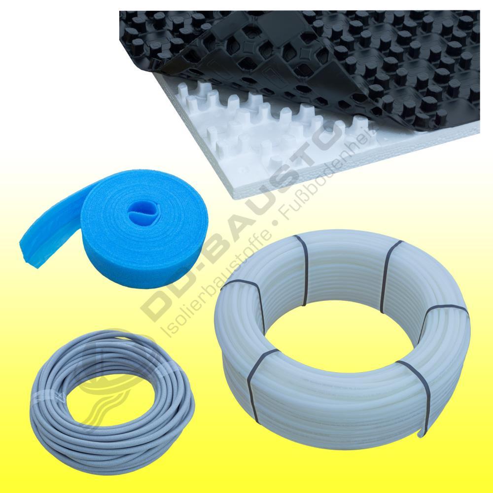 zewo noppensystem objekt fu bodenheizung komplettpaket set mit noppenplatte noppensystem. Black Bedroom Furniture Sets. Home Design Ideas