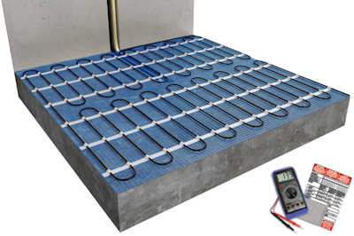 ratiodämm Elektro-Flächenheizung Verarbeitung: Verlegung mit Gussmörtel 1