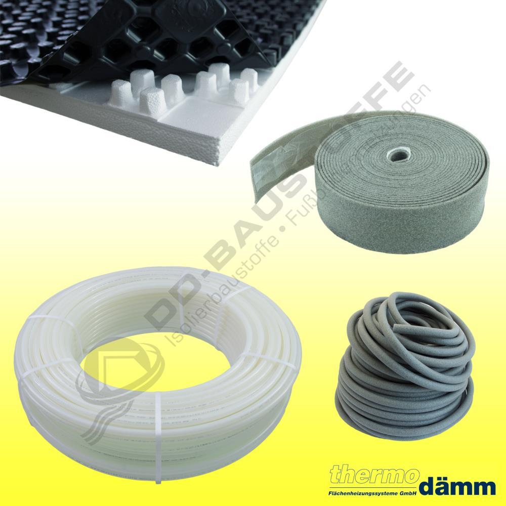 protec noppensystem fu bodenheizung komplettpaket set mit noppenplatte set angebote. Black Bedroom Furniture Sets. Home Design Ideas